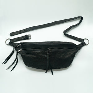 The Everywhere Bag — Distressed Black Leather