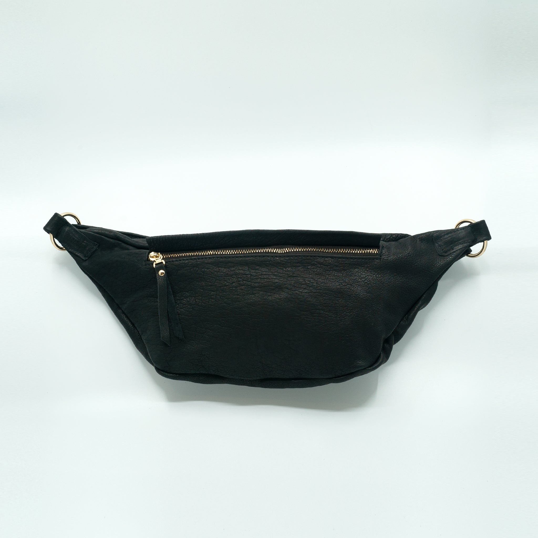The Everywhere Bag #4 — Grainy Black Leather with Gold Hardware