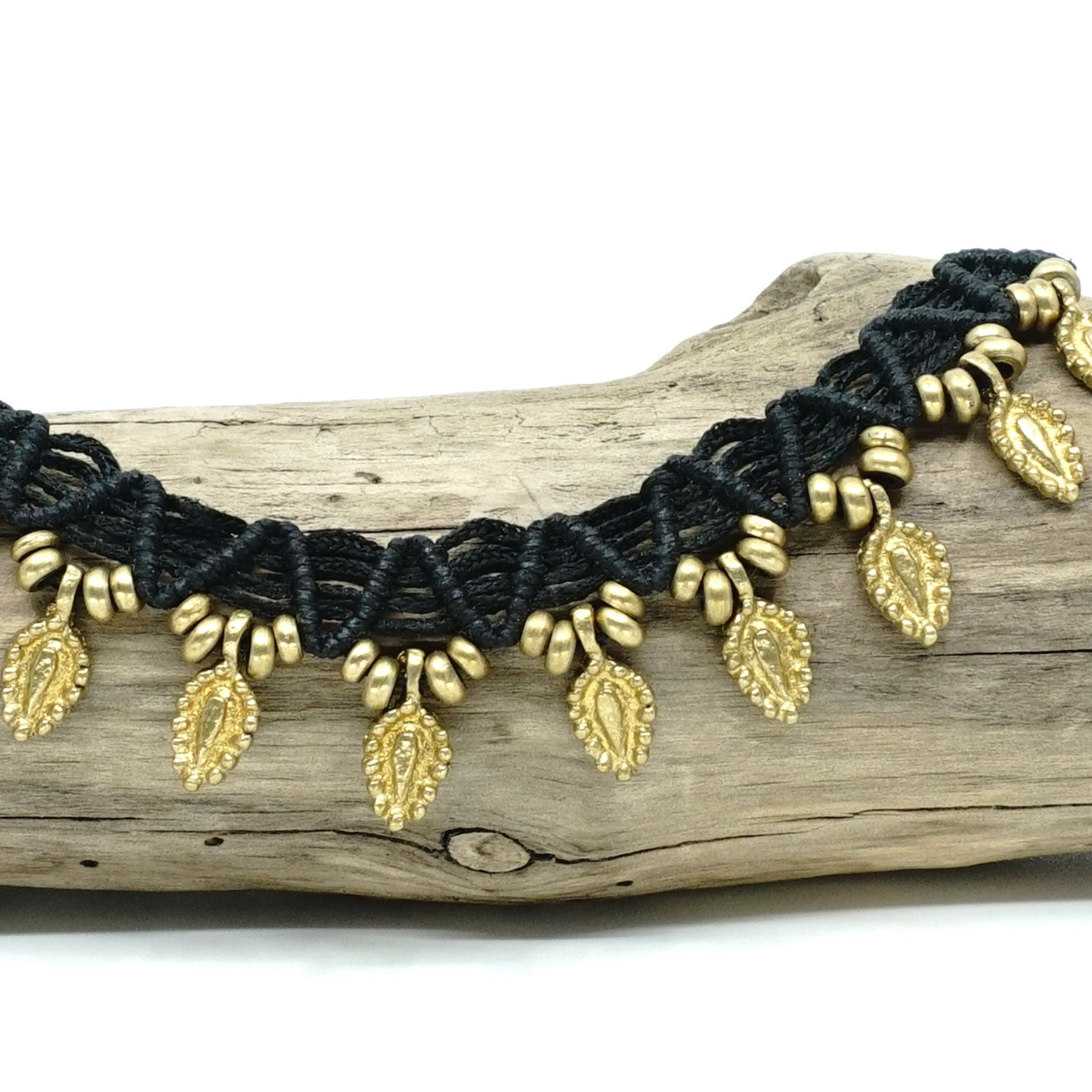 The Caviar Featherdrop Anklet