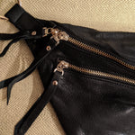 The Everywhere Bag — Grainy Black Leather with Gold Hardware