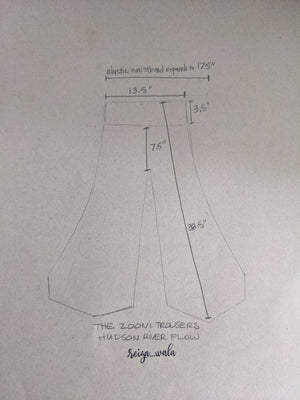 The Zooni Trousers #2A — Hudson River Flow