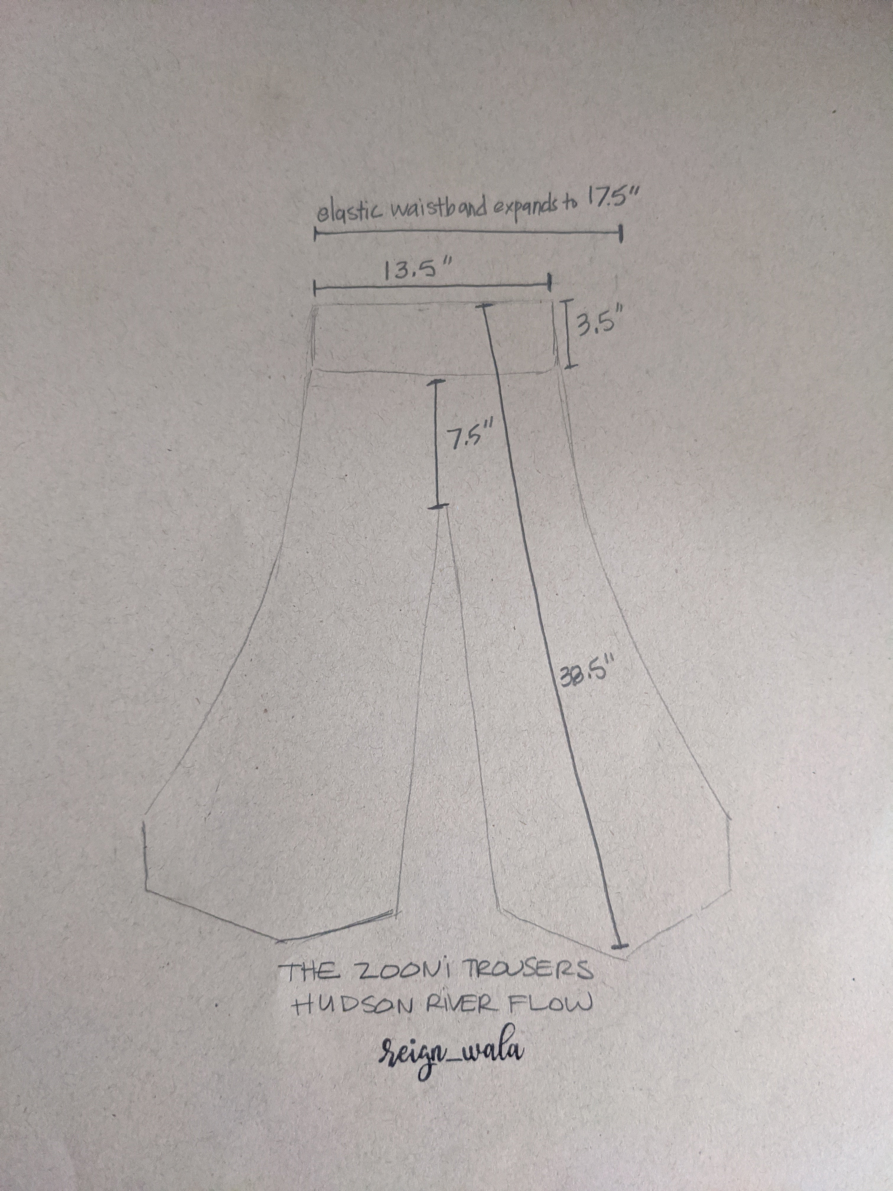 The Zooni Trousers #15A — Hudson River Flow
