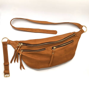 The Everywhere Bag — Buttery, Slouchy Cognac Leather with Gold Hardware