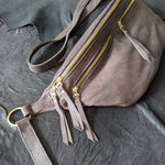 The Everywhere Bag — Pebbled Espresso Brown Leather with Gold Hardware
