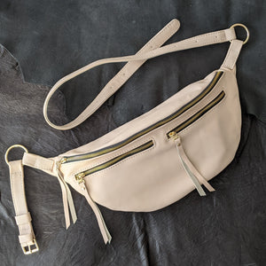 The Everywhere Bag — Matte Coconut Leather with Gold Hardware