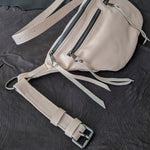 The Everywhere Bag — Matte Coconut Leather with Gunmetal Hardware