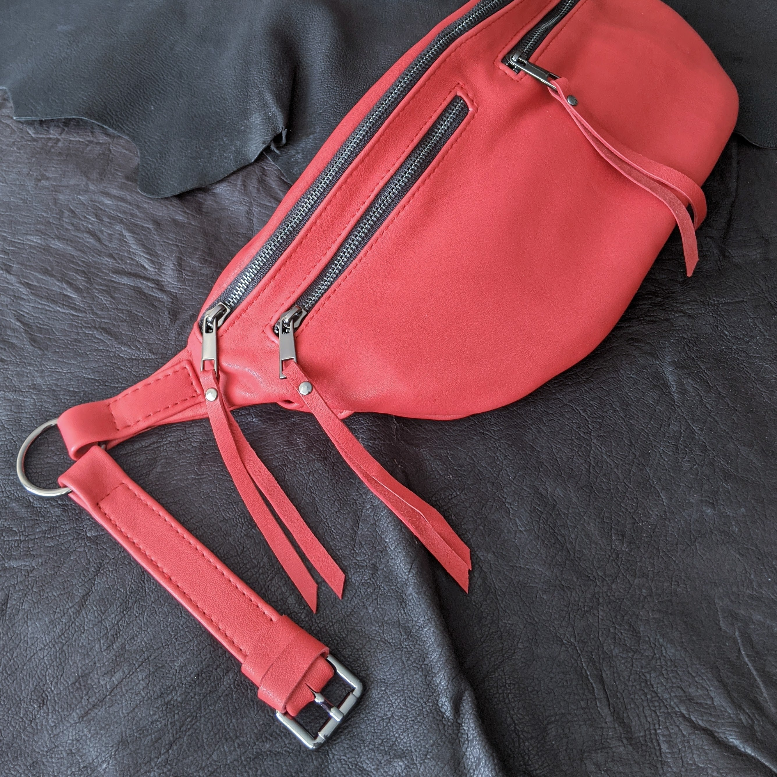 The Everywhere Bag — Red #2 with Gunmetal Hardware