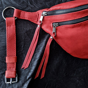 The Everywhere Bag — Red #3 with Gunmetal Hardware