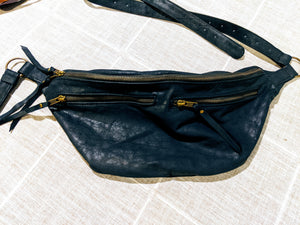 The Everywhere Bag — Marbled Navy Leather