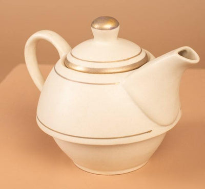 Cream Teapot For One