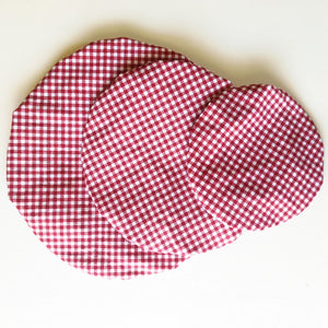 Bowl Cover Set - Gingham print