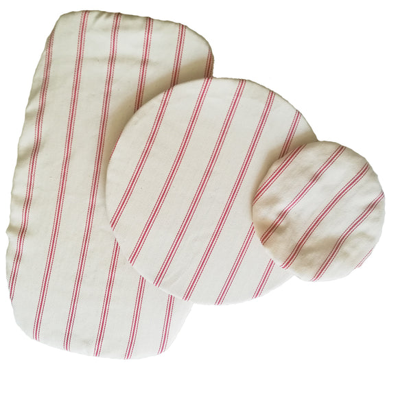 Dish Cover Set with red stripes