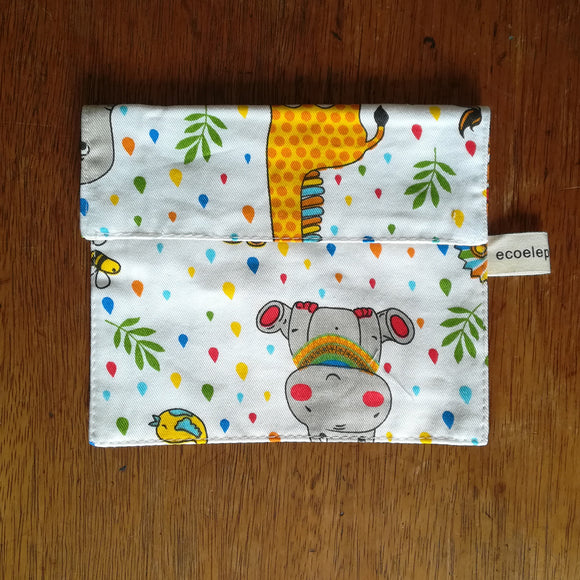 Safari print snack pouch - small