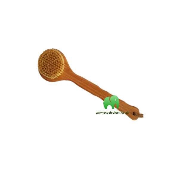 Bamboo Body Brush with Natural Bristles
