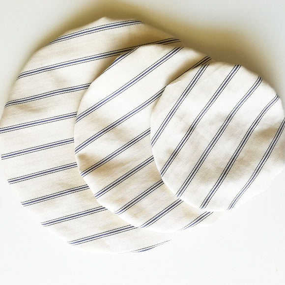Bowl Cover Set with Stripes