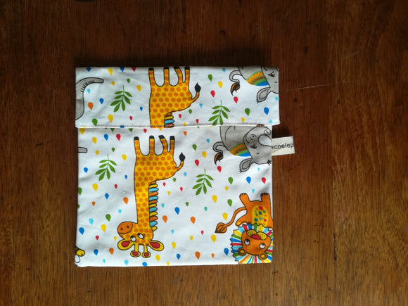 Safari print snack pouch - large