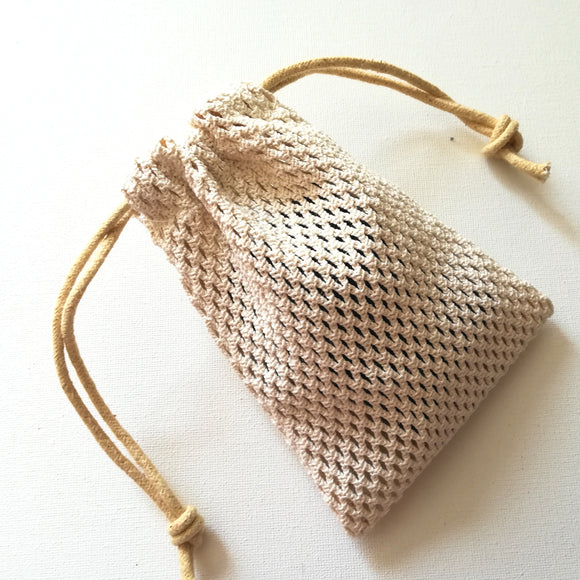 Cotton mesh soap saver