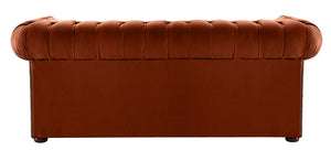 1694 Chesterfield Sofa, Apricot Allure Velvet