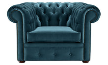 Load image into Gallery viewer, 1694 Chesterfield Club Chair, Blue Allure Velvet