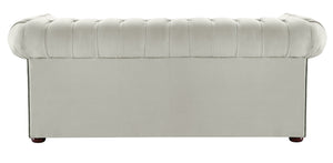 1694 Chesterfield Sofa, Cream Allure Velvet
