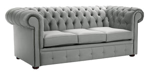 1694 Chesterfield Sofa, Grey Allure Velvet