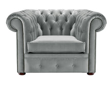 Load image into Gallery viewer, 1694 Chesterfield Club Chair, Grey Allure Velvet