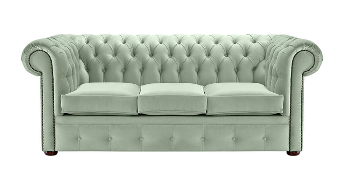 1694 Chesterfield Sofa, Sky Allure Velvet