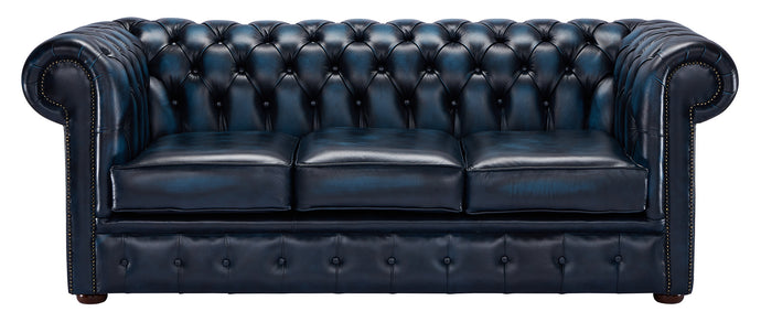 1694 Chesterfield Sofa, Blue Antique Leather