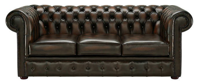 1694 Chesterfield Sofa, Brown Antique Leather