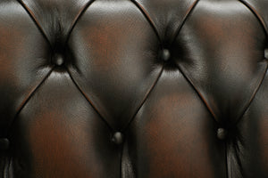 1694 Chesterfield Club Chair, Brown Antique Leather