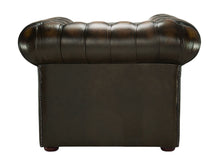 Load image into Gallery viewer, 1694 Chesterfield Club Chair, Brown Antique Leather