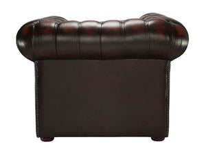 1694 Chesterfield Club Chair, Red Antique Leather