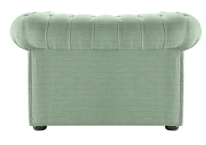 1694 Chesterfield Club Chair, Aqua Dakota