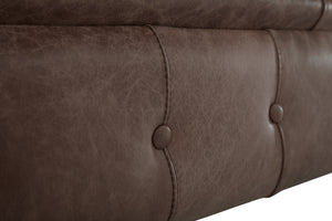 1694 Chesterfield Club Chair, Dark Brown Heritage Leather