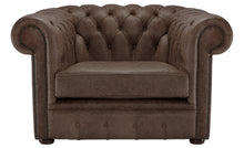 Load image into Gallery viewer, 1694 Chesterfield Club Chair, Dark Brown Heritage Leather