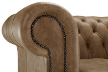 Load image into Gallery viewer, 1694 Chesterfield Club Chair, Honey Heritage Leather