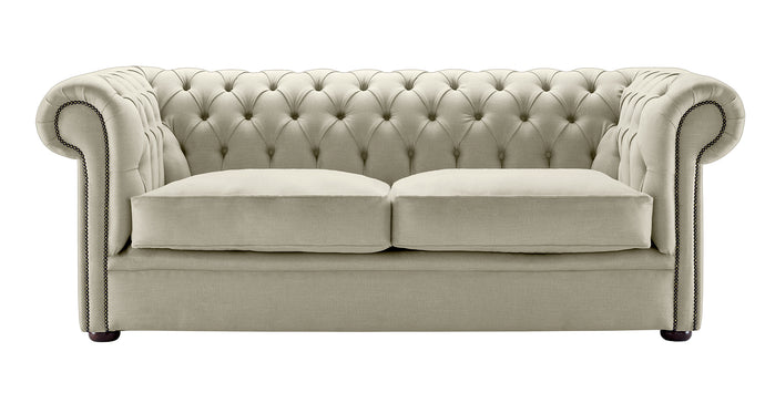 1694 Chesterfield Sofa, Cream Weave