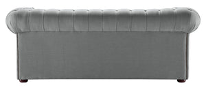 1694 Chesterfield Sofa, Graphite Weave