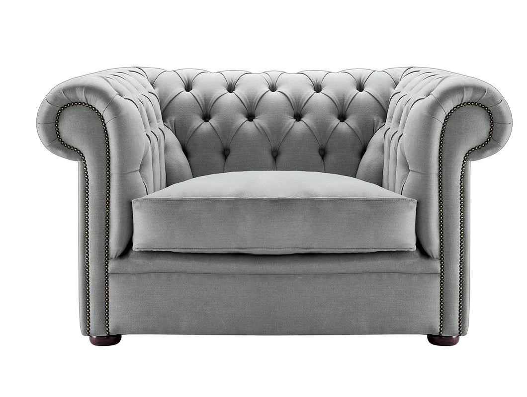 1694 Chesterfield Club Chair, Graphite Weave