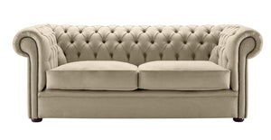 1694 Chesterfield Sofa, Parchment Weave