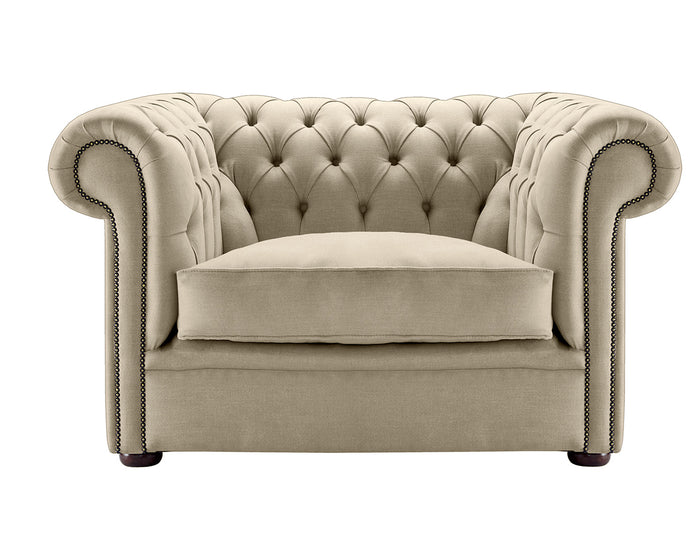 1694 Chesterfield Club Chair, Parchment Weave