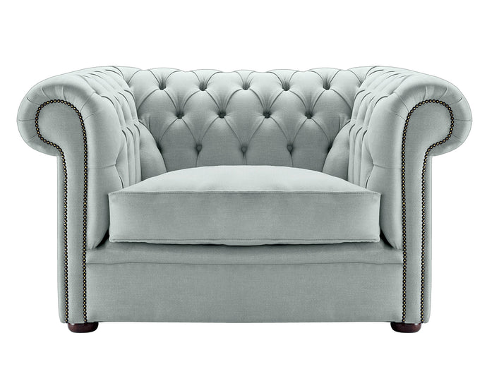 1694 Chesterfield Club Chair, Quartz Weave