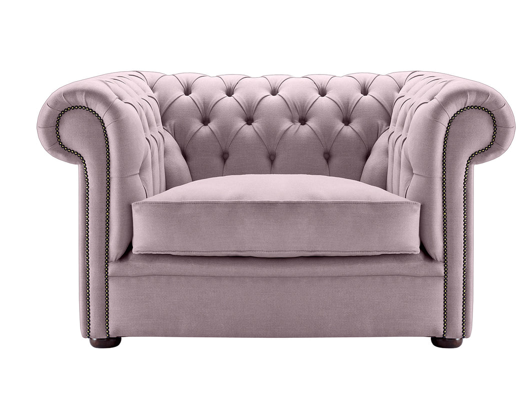 1694 Chesterfield Club Chair, Sweet Pea Weave