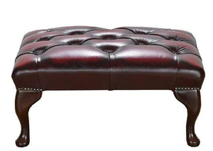 Antique Leather Red 1694 Footstool