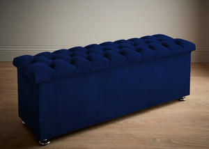 Boutique Velvet Royal Chesterfield Bed Box