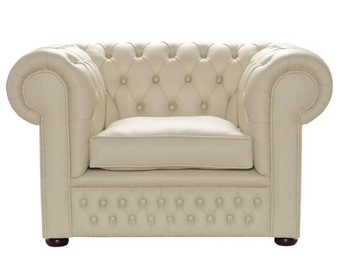 1694 Club Chair, Cream House Leather