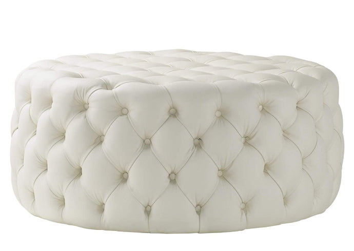 Nuvol Footstool, Cream House Leather