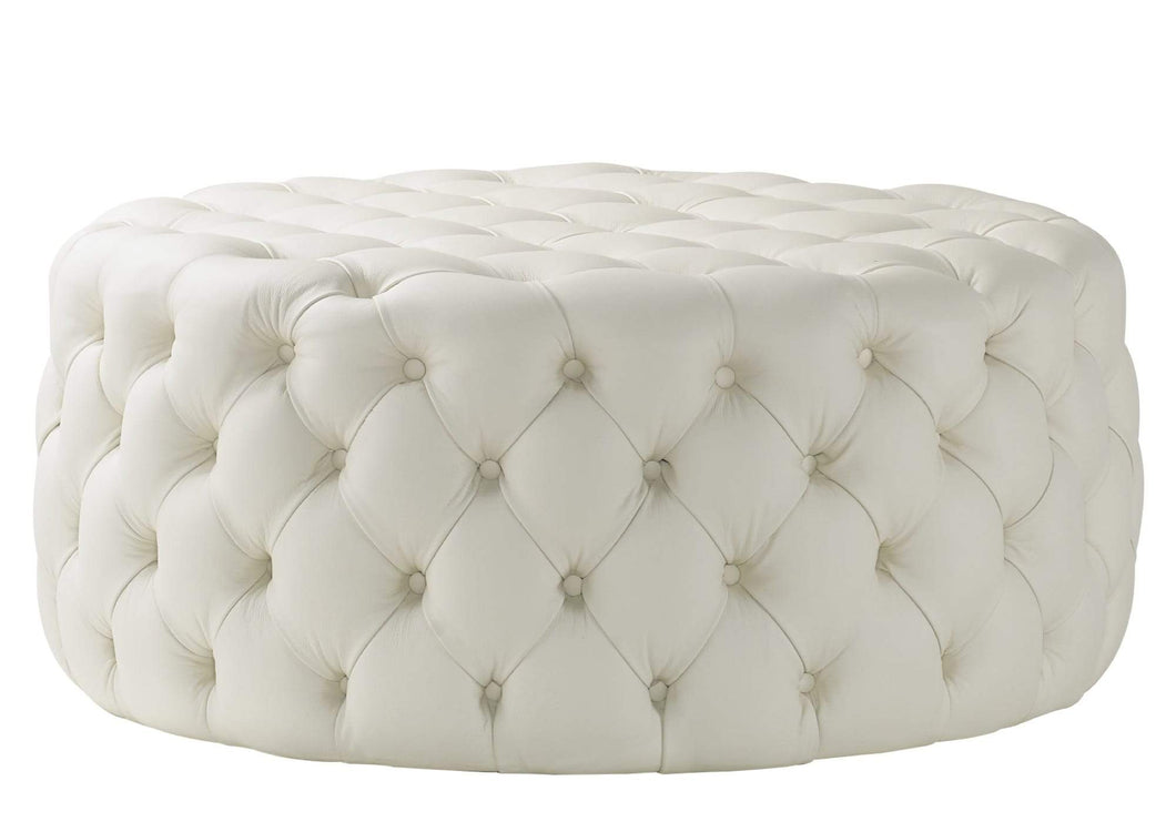 House Leather Cream Nuvol Footstool