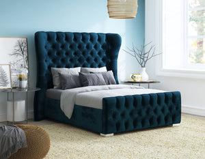Single Ferrara Bed, Cobalt Boutique Velvet