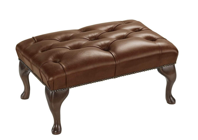 1694 Footstool, Hazel Salvaggio Leather